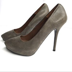Zara Distressed Pebbled Leather Pumps Size 39
